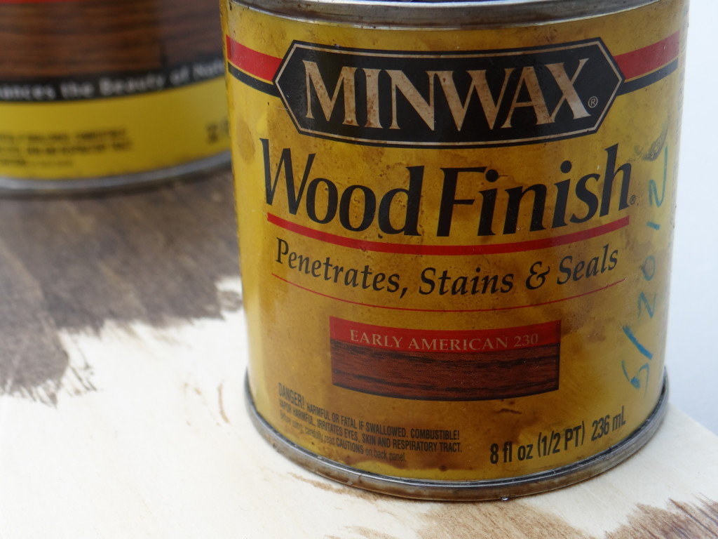 Minwax Early American was the perfect color for this project.