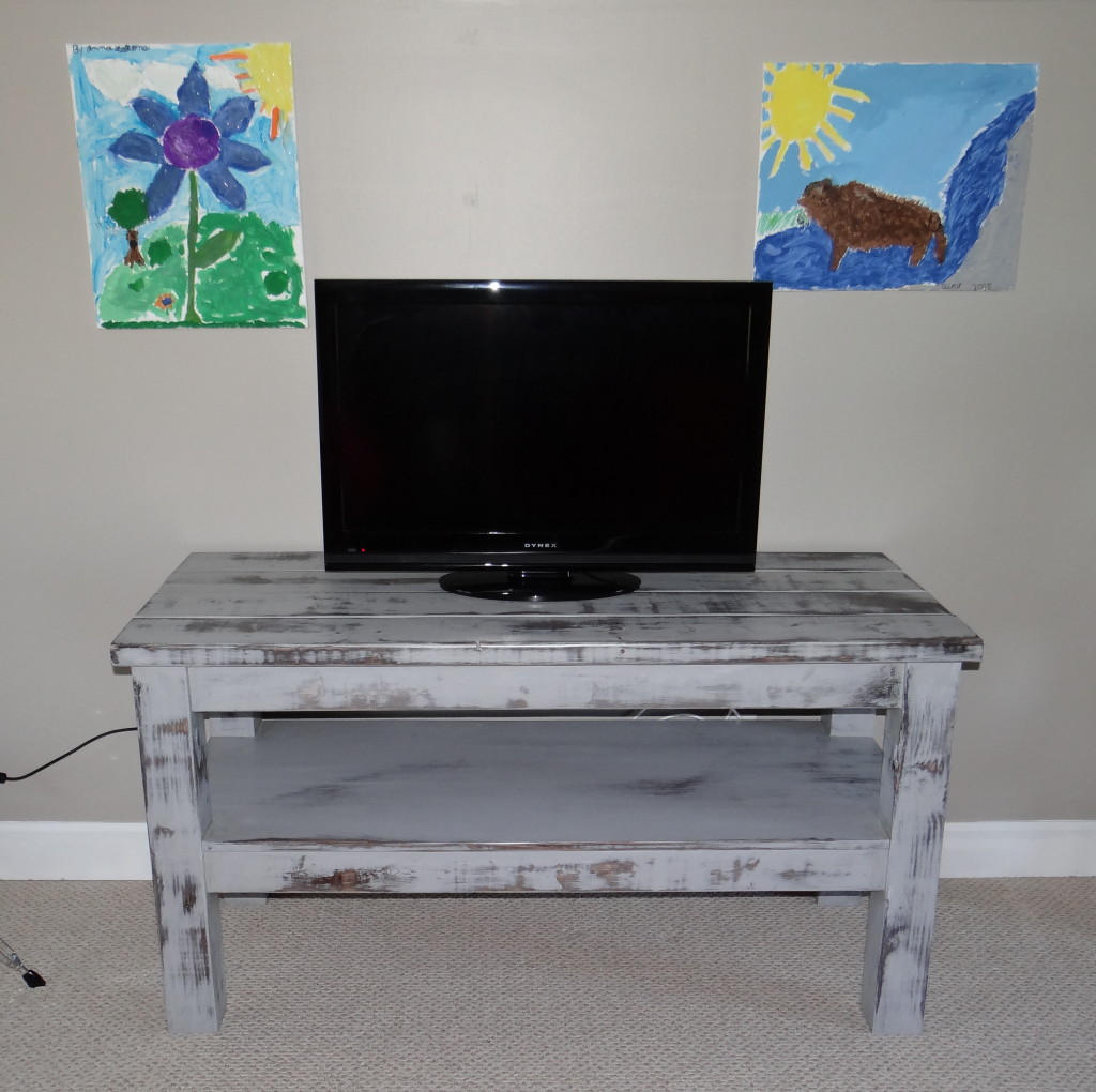 Distressed Media Console