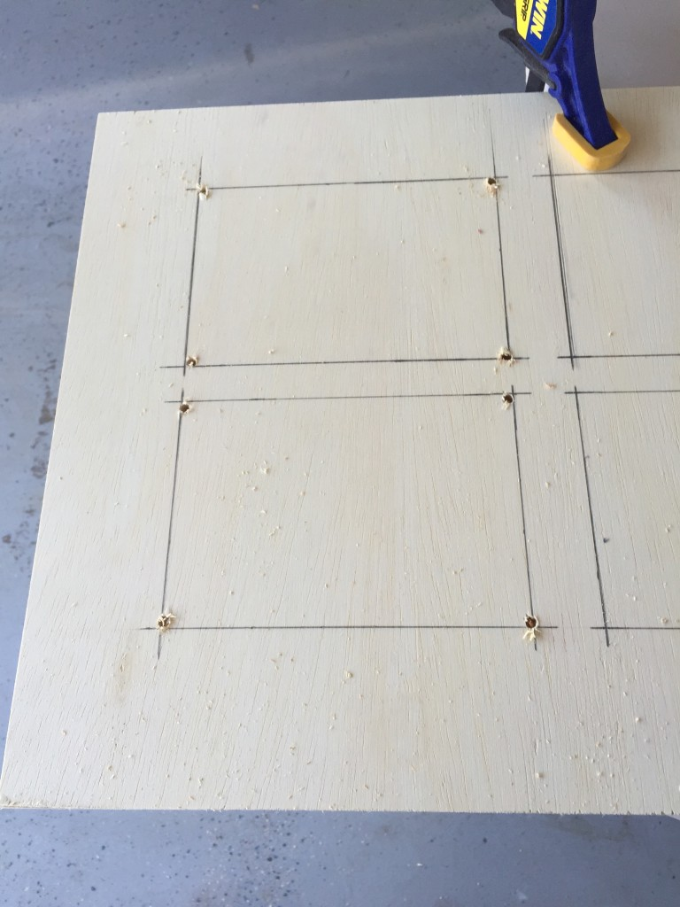 I marked out the openings on the door prior to using my jig saw.