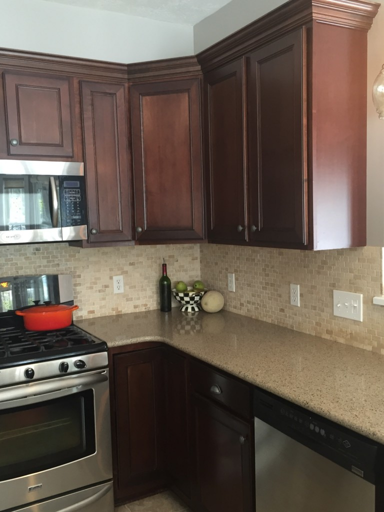 "Kitchen Cabinet ""Paintover"" Makeover"