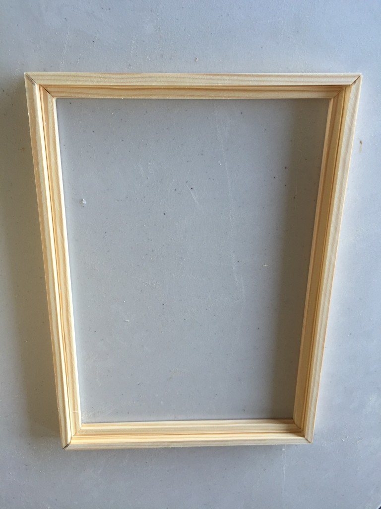 This is the frame that nestles the plexiglas behind the door. It has mitered corners and rabbet groove cut.