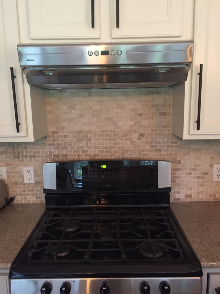 Our new range hood is quieter, brighter and smaller than the over the range microwave.