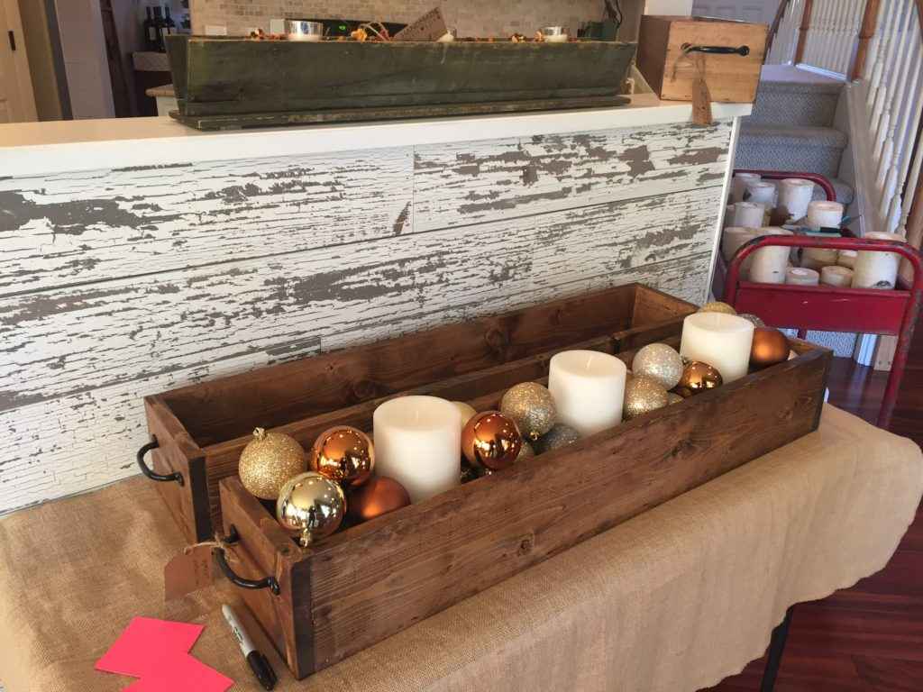 Table Trough with Christmas Decor